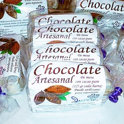 Paquetes de chocolate de mesa