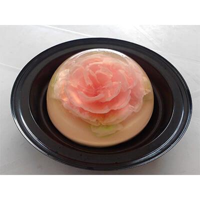 Gelatina 3D con rosa adentro