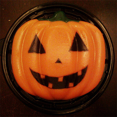Gelatina de calabaza halloween