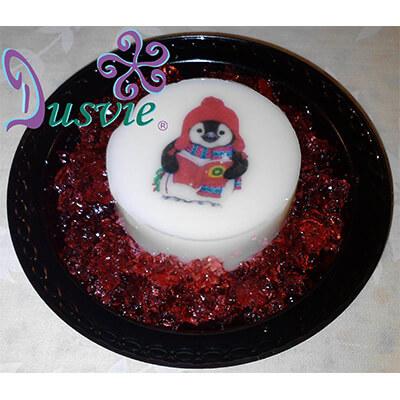 Gelatina navideña pingüino