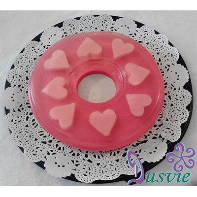 Gelatina de corazones en forma de rosca