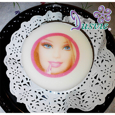 Gelatina imagen comestible barbie