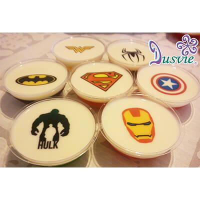 Gelatinas imágenes comestibles superheroes