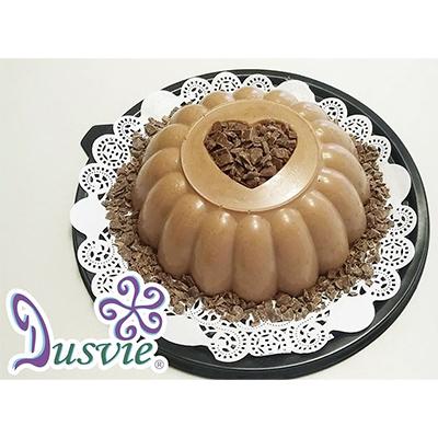 Gelatina corazon chocolate crema irlandesa