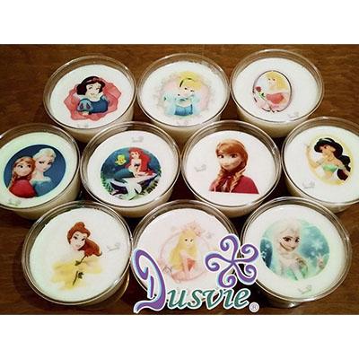 gelatinas princesas comestibles