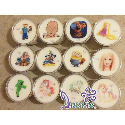 gelatinas con personajes de minecraft pony barbie minion