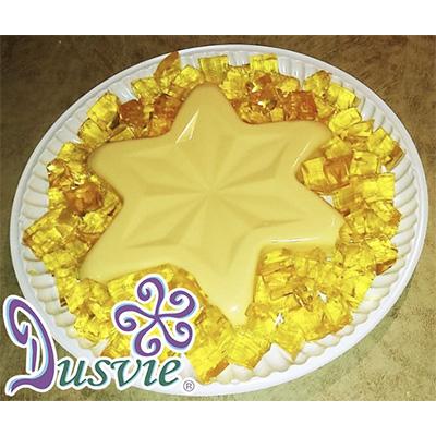 gelatina de piña en forma de estrella