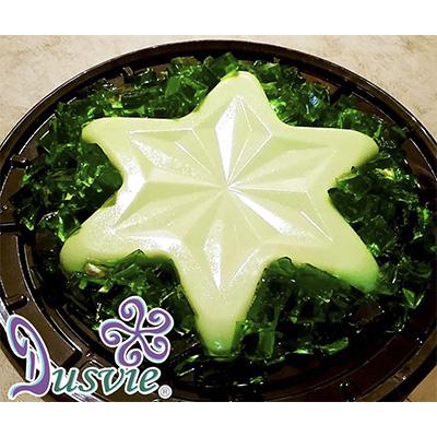 gelatina de limón en forma de estrella