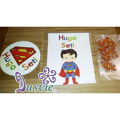 Oblea para decorar pastel con imagen de Superman