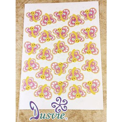 Oblea para decorar pastel con imagen de mariposas