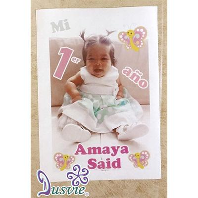 Oblea para decorar pastel con fotografía de un bebé