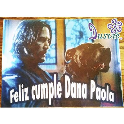 Oblea para decorar pastel con imagen de John Wick perro