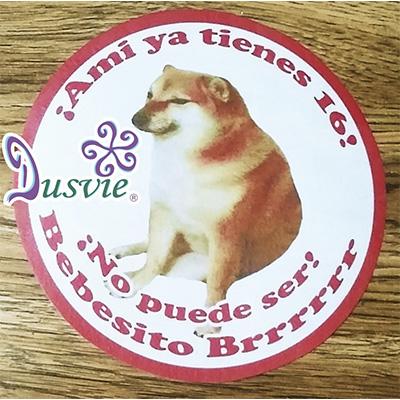 Oblea para decorar pastel con imagen de cheems meme perro