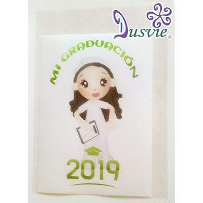Oblea para pastel con imagen de enfermera en graduación