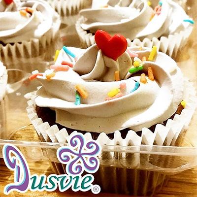 Cupcakes de chocolate con corazones