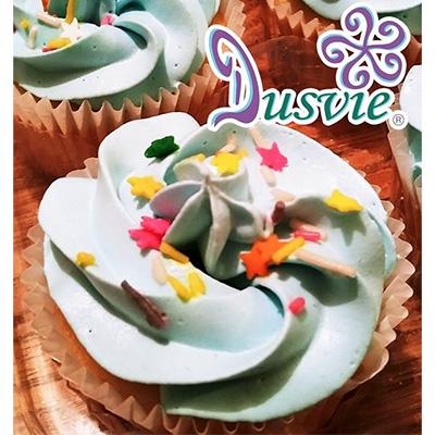Cupcakes de limón con estrellitas