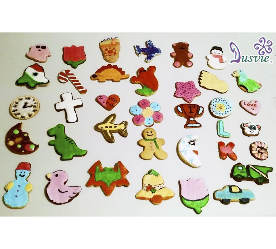 galletas decoradas de jengible muchas figuritas